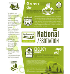 Green city eco business ecology poster template vector