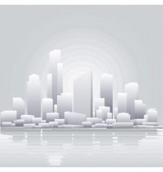 grey city vector image