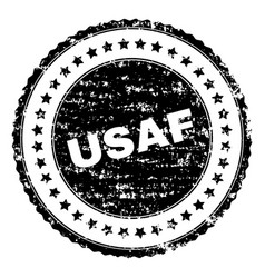 Grunge textured usaf stamp seal vector