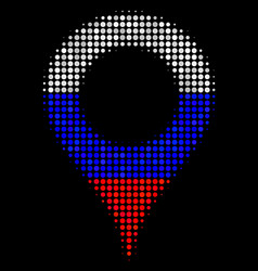 halftone russian map marker icon vector image