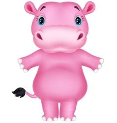 Happy hippo cartoon vector image