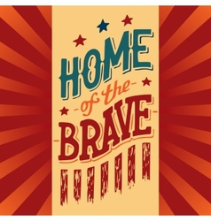 home brave vector image