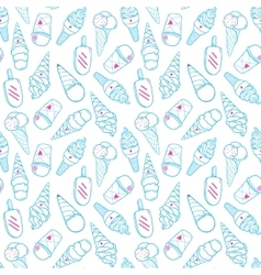 Ice Cream Pattern 4 vector image