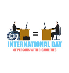 International day of persons with disabilities vector