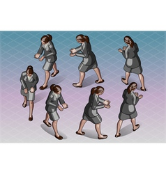 Isometric woman that transporting something vector