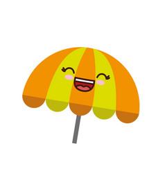 Kawaii parasol icon vector