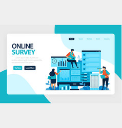 landing page online survey satisfaction feedback vector image