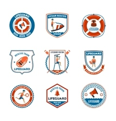 Lifeguard Emblems Set vector image vector image