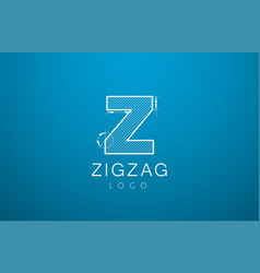 logo template letters z zigzaz in the style of a vector image