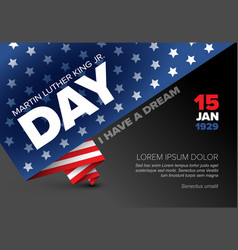 Martin luther king jr day poster template vector
