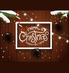 merry christmas and happy new 2020 year greeting vector image