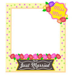 Miss mrs just married photo frame accessories vector
