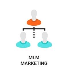 mlm marketing icon vector image