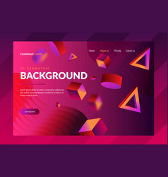 Modern gradient background landing page templates vector