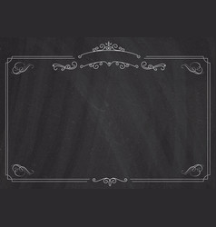 Ornamental retro border and blackboard textured vector