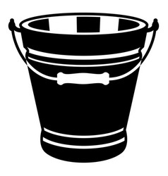 Pail icon simple style vector