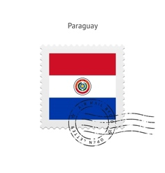 Paraguay Flag Postage Stamp vector image