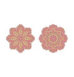 pink ornate pattern vector image