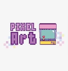 pixel art concept vector image