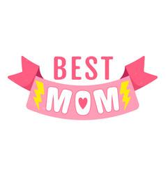 retro emblem for mother vector image