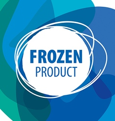 Round abstract logo for frozen products vector