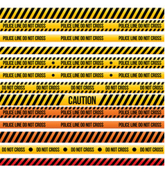 Set caution tapes vector