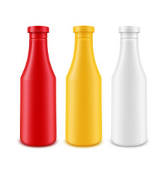 set of blank plastic white red yellow vector image