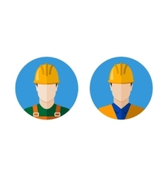 Set of builders icons vector