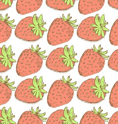 Sketch tasty strawberry in vintage style vector image