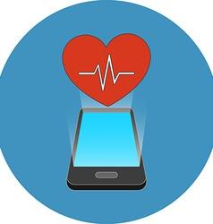 Smartphone fitness app concept Isometric design vector