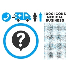 Status Icon with 1000 Medical Business Pictograms vector image