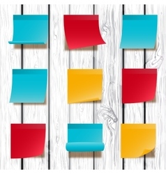 Sticky notes collection vector image