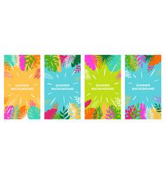 summer background summer plant design for vector image