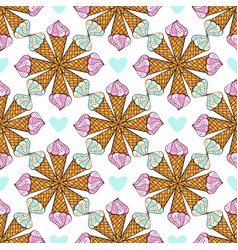 summer pattern with geometrical ornament print vector image