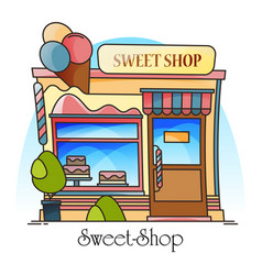 sweets shop or confectionery store with ice-cream vector image