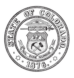 The state seal of colorado vintage vector