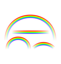 transparent abstract rainbow collection in vector image
