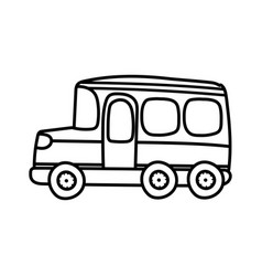 Transport school bus cartoon on white background vector