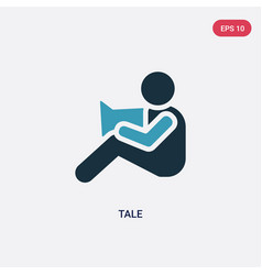 Two color tale icon from kid and baconcept vector