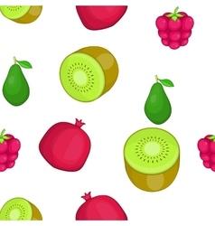 Types of fruit pattern cartoon style vector