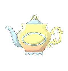 vintage tea pot icon cartoon style vector image