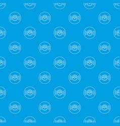 vinyl record pattern seamless blue vector image