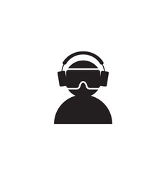 virtual reality vr icon graphic design template vector image