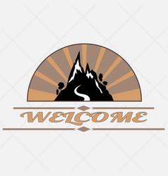 Welcome to mountain vector