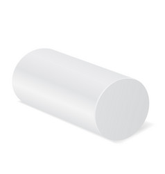 White cylinder mockup 3d template vector