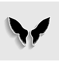 Wings sign Sticker style icon vector image