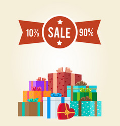 10 to 90 discounts clearance sale premium label vector image