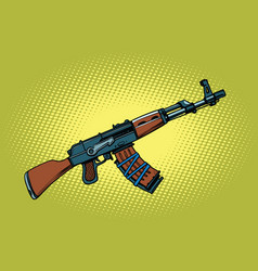 akm soviet automatic weapons vector image