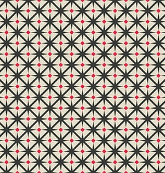 black and red rhombus seamless geometric pattern vector image vector image