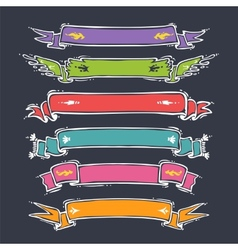 Cartoon Ribbons Set vector image